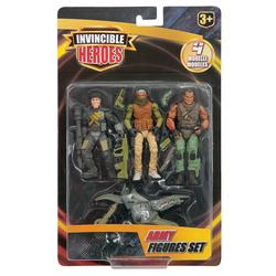 Figurines soldats avec un véhicule
