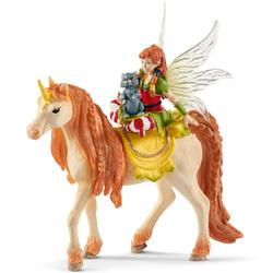 Figurine fée Marween avec une licorne scintillante