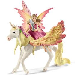 Figurine fée Feya et une licorne ailée