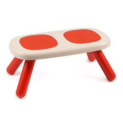 kid banc intérieur / extérieur - double assise - rouge