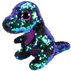 Flippables-Peluche à sequins Crunch le dinosaure 23 cm