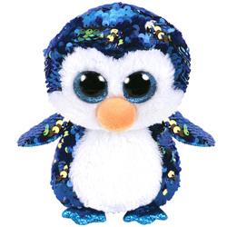 Flippables-Peluche à sequins Payton le pingouin 23 cm
