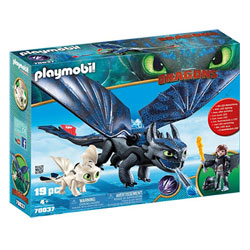 70037 - Playmobil Dragons 3 - Krokmou Harold et bébé dragon