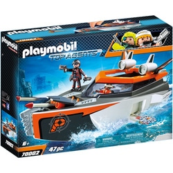 70002 - Playmobil Top Agents - Bateau Turbo Spy Team