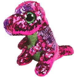 Flippables-Peluche à sequins Stompy le dinosaure 23 cm