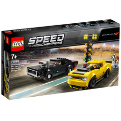 75893 - LEGO® Speed Champions Dodge Challenger SRT Demon 2018 et Dodge Charger R/T 1970