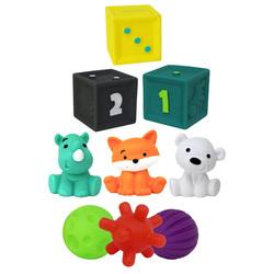 Coffret sensoriel avec balles cubes et arroseurs