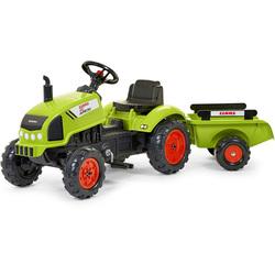 Tracteur à pédales Claas avec remorque et capot ouvrant