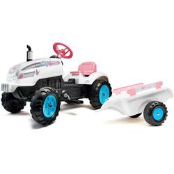Tracteur à pédales Butterfly Farmer avec remorque et capot ouvrant