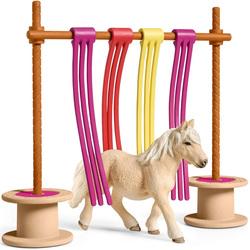 Rideau pour poney avec figurine poney Shetland