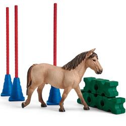 Slalom pour poney avec cheval sauvage Horse Club