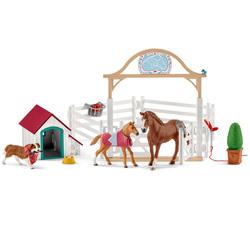 Horse Club chevaux invités d'Hannah avec chienne Ruby