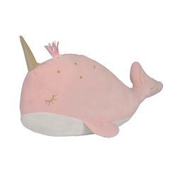 Coussin baleine rose
