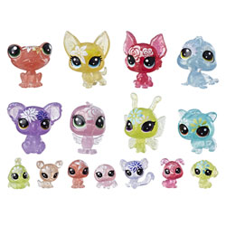 Coffret de 16 Figurines Petshop - Littlest Pet Shop - Collection Jardin Enchanté - 8 Minis Petshop et 8 Teensies Petshop