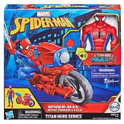 Figurine Spiderman 30 cm et sa moto Power Cycle - Titan Hero Series