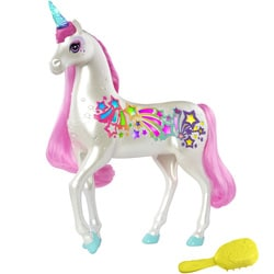 Barbie Dreamtopia-Licorne arc-en-ciel sons et lumière