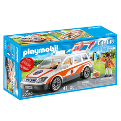 70050 - Playmobil City Life - Voiture et ambulanciers
