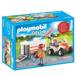 70053 - Playmobil City Life - Quad et remorque de secours