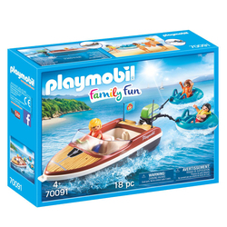 70091 - Playmobil Family Fun - Bateau avec bouées et vacanciers