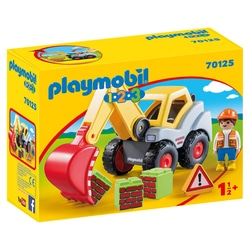 70125 - Playmobil 1.2.3 - Pelleteuse