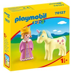 70127 - Playmobil 1.2.3 Princesse et licorne