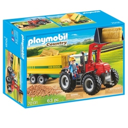 70131 - Playmobil Country - Grand tracteur avec remorque