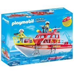 70147 - Playmobil City Action - Bateau de sauvetage et pompiers