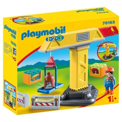 70165 - Playmobil 1.2.3 - Grue de chantier