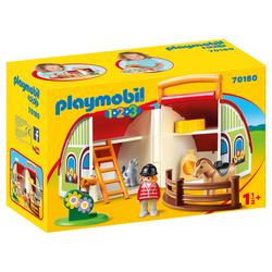 70180 - Playmobil 1.2.3 - Centre équestre transportable
