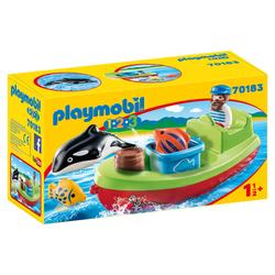 70183 - Playmobil 1.2.3 - Bateau et pêcheurs
