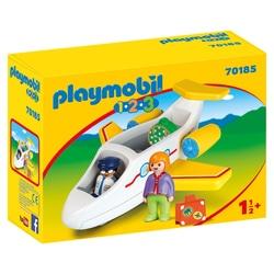 70185 - Playmobil 1.2.3 - Avion avec pilote et vacancière