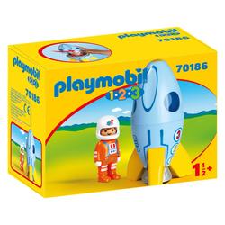 70186 - Playmobil 1.2.3 Fusée et astronaute