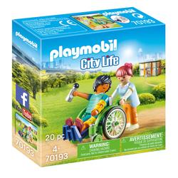70193 - Playmobil City Life - Patient en fauteuil roulant