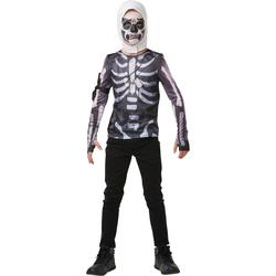 Fortnite-Déguisement top avec cagoule Skull Trooper 9/10 ans