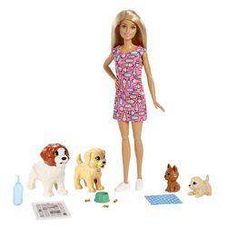 Poupée Barbie et ses chiens