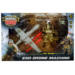 Soldat avec avion Exo-Drone machine