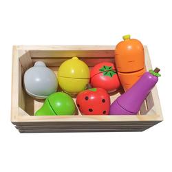 Caissette fruits et légumes en bois avec velcro
