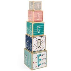 Pyramide en bois 5 cubes Sophie la Girafe