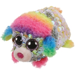 Teeny Ty sequins - Peluche Rainbow le caniche 8 cm