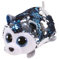 Teeny Ty sequins - Peluche Slush le chien 8 cm