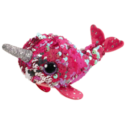 Teeny Ty sequins - Peluche Nelly le narval 8 cm