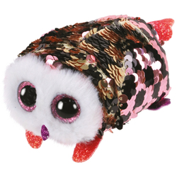 Teeny Ty sequins - Peluche Checks le hibou 8 cm