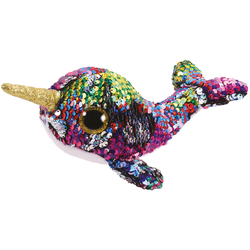 Flippables Small - Peluche sequins Calypso le narval 15 cm