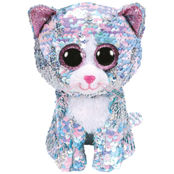 Flippables Small - Peluche sequins Whimsy le chat 15cm