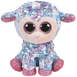 Flippables Small - Peluche sequins Tulip le mouton 15 cm