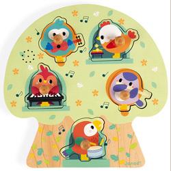 Puzzle musical en bois les oiseaux