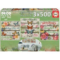 Puzzles Jardin à la Campagne - 3 x 500 pièces