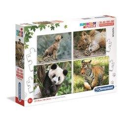 Puzzle 20+60+100+180 pièces - Bébés animaux