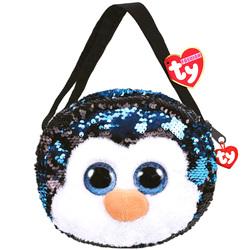 Sac à bandoulière peluche Waddles le pingouin 20 cm