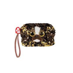Porte monnaie peluche sequins Brutus le chien 10 cm